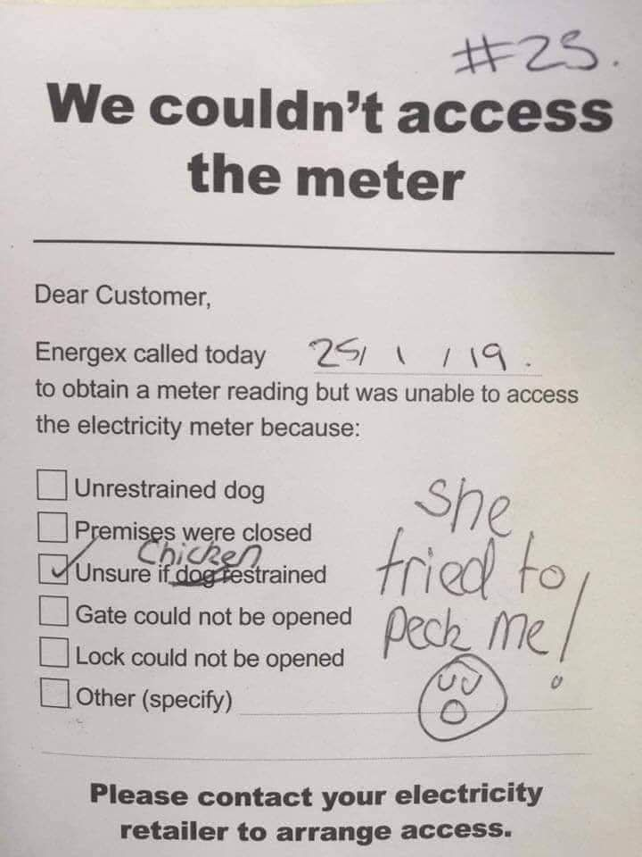 Sorry we couldn't read your meter today...