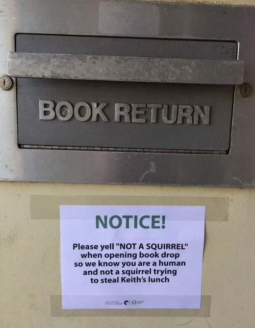 Spotted at a local public library