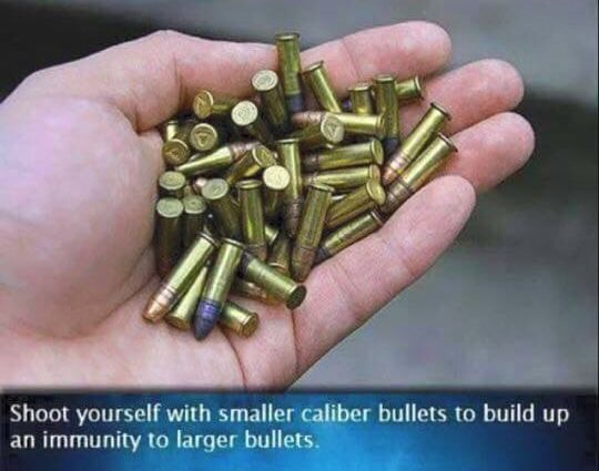 My best friend shot himself in the leg not too long ago and was in ICU for a week. I saw this snd sent it to him. ..!!