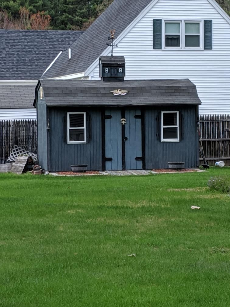 My neighbor made a mini version of their shed to put on top of their shed.