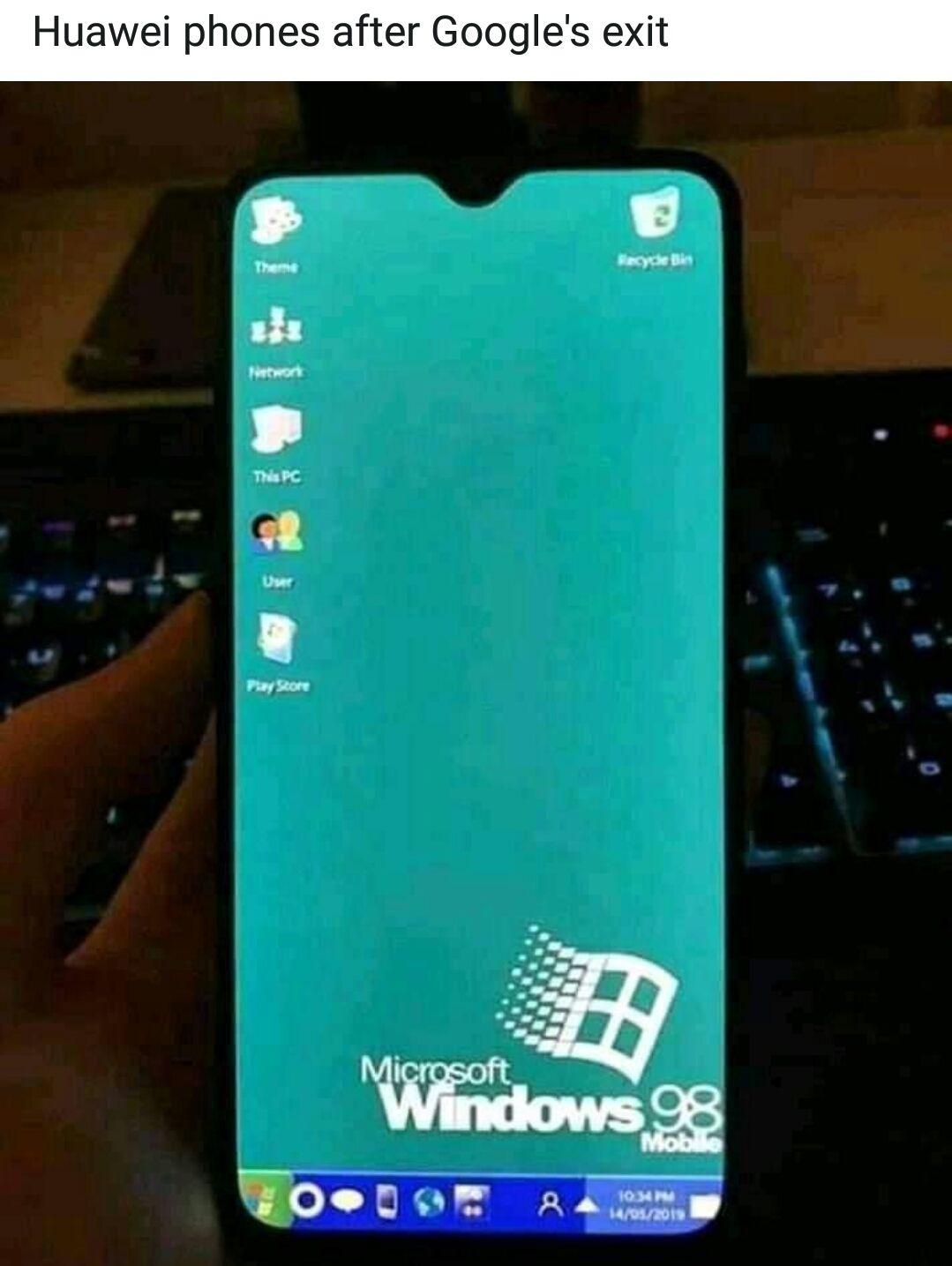 Still not as bad as windows actual mobile os
