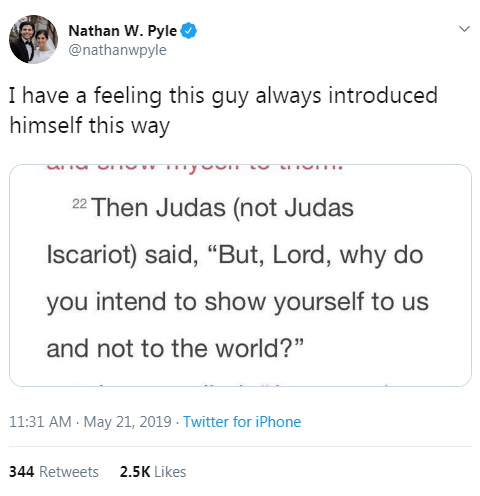 Judas (the good one)