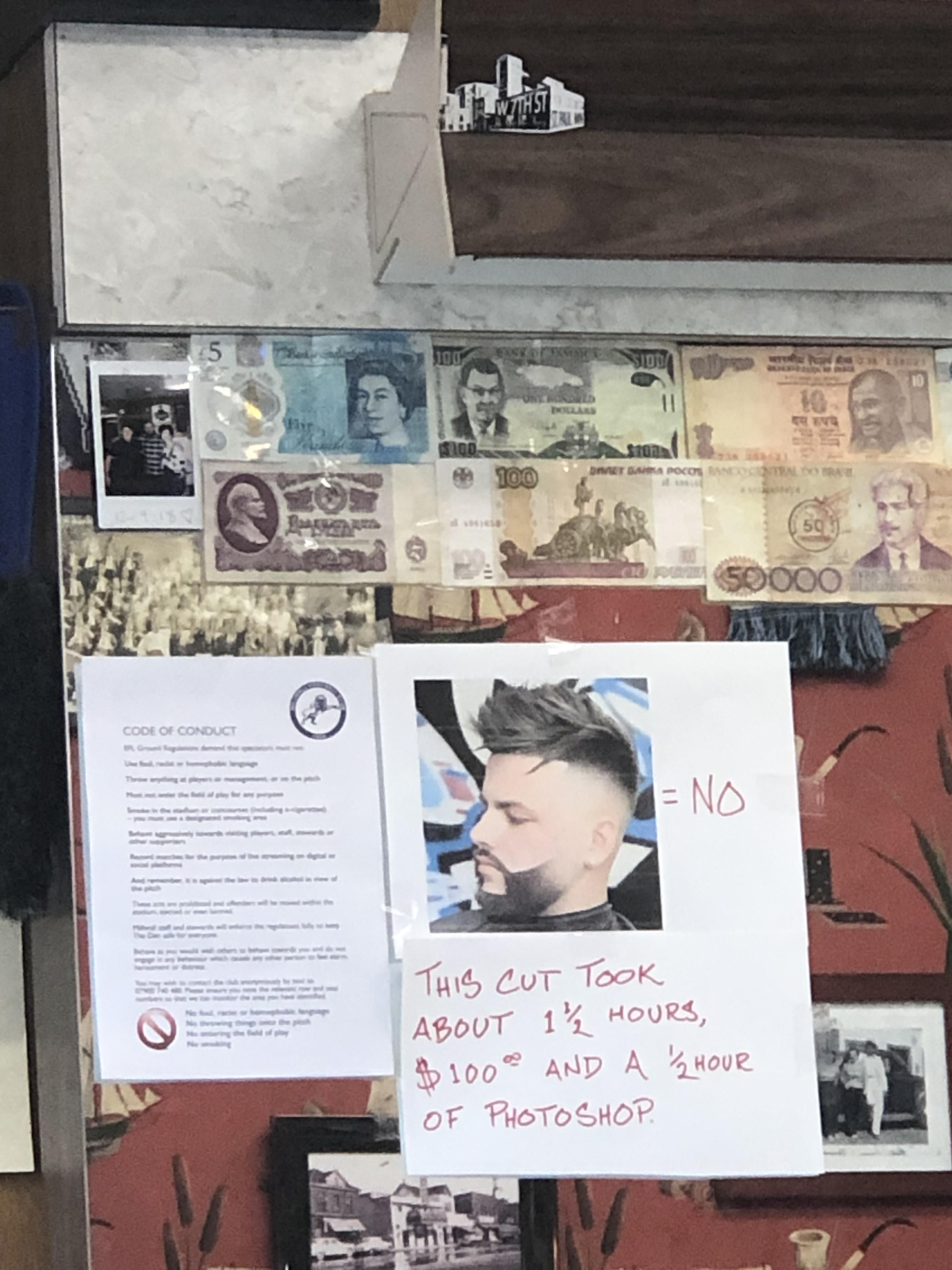 This barber is sick of your shit