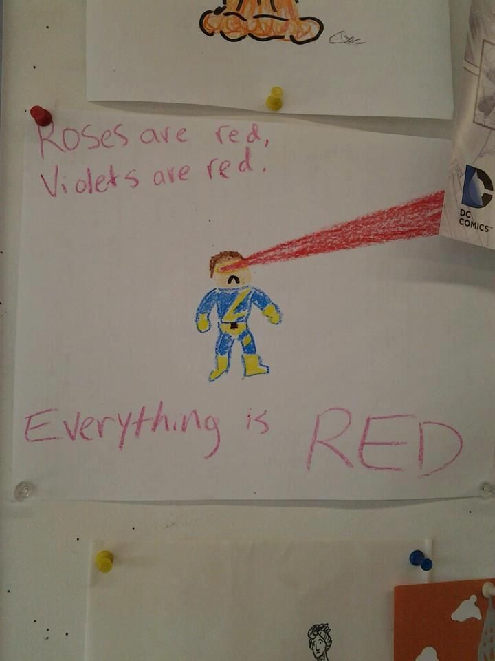 Everything is red.