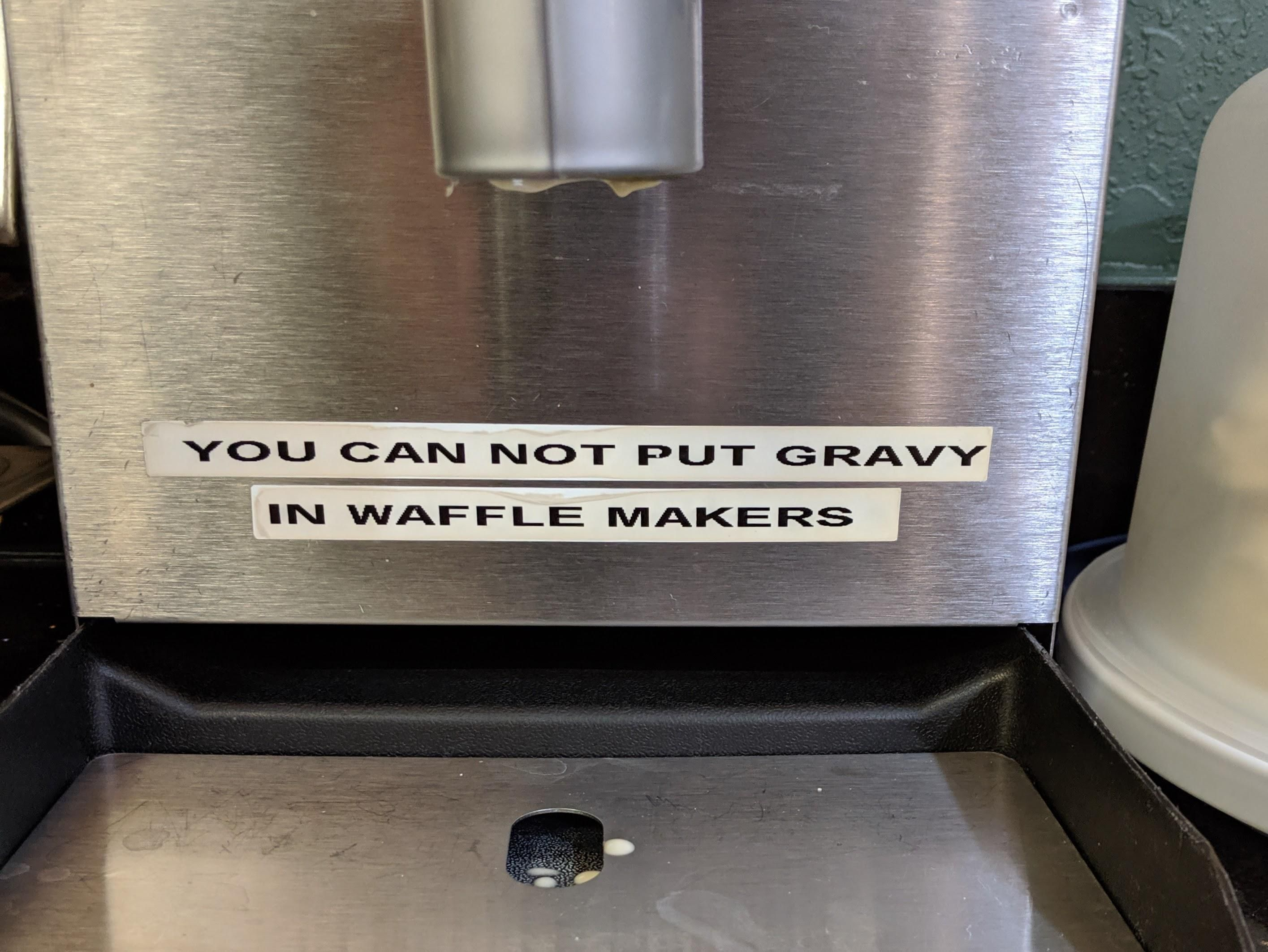 I really want to meet the aspiring chef who made this sign necessary.