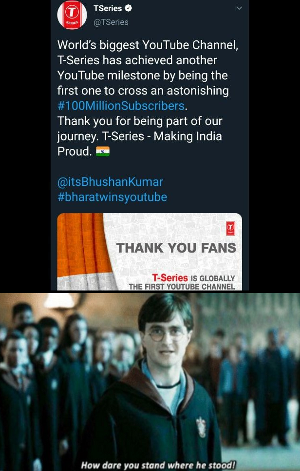 Only 7.5% of India's Population make up T Series Subcribers