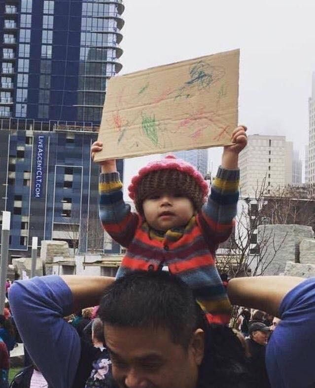 Whatever your protesting little one, you have got my support!