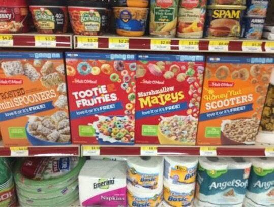 All of these off brand cereals sound like euphemisms for gay men