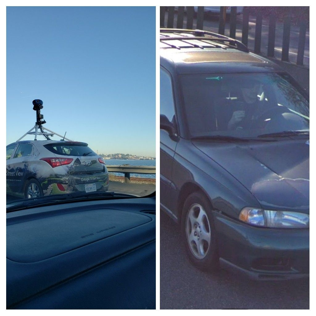 I took a photo of the Street View Car, and they took a photo of me