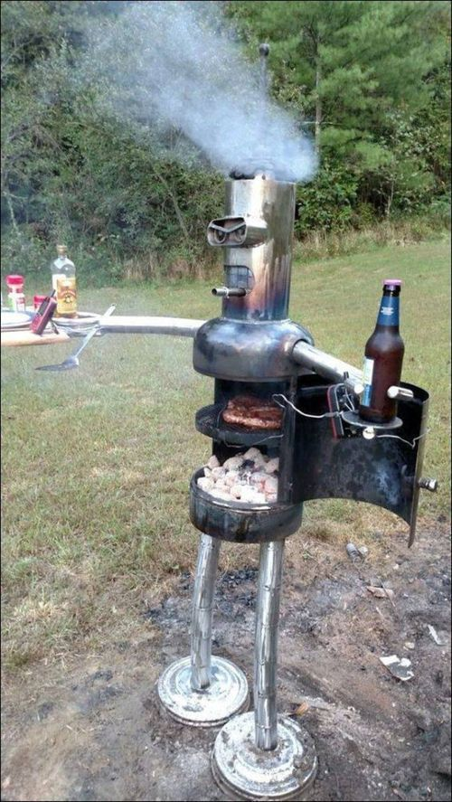 I'll make my own grill. With blackjack and hookers!
