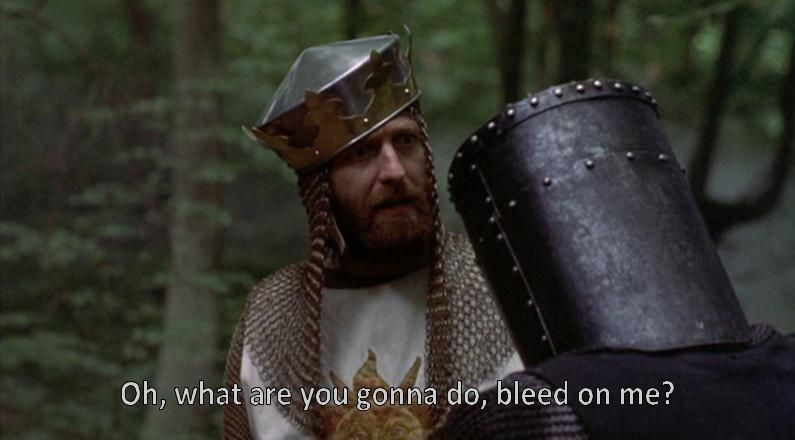 When my girlfriend says we can't have sex because she's on her period.