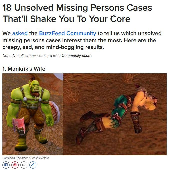 where's mankrik's wife?