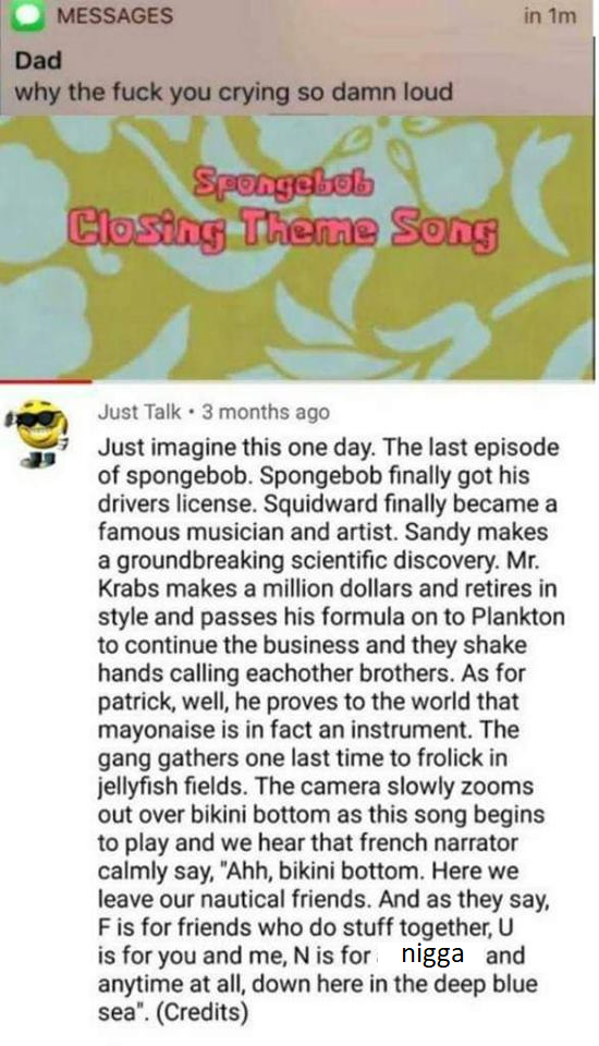 The ending that Sponge Bob deserves