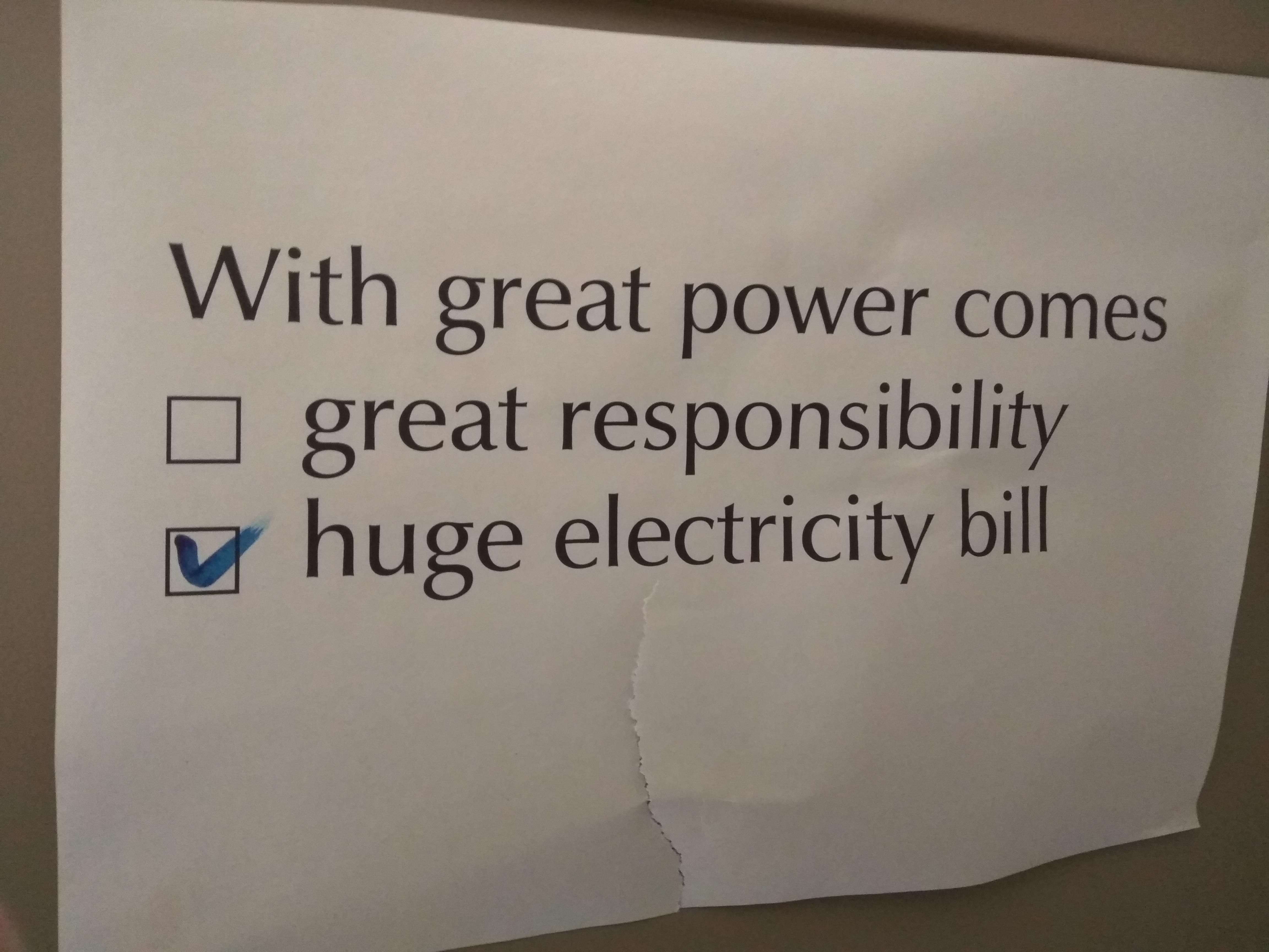 With great power comes...