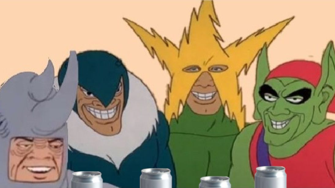 Me cracking open a cold one with the boys