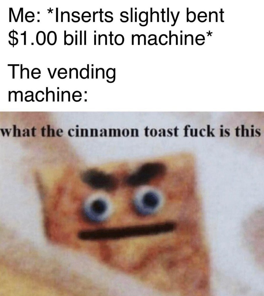 Just take the bill, please