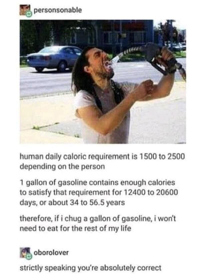 Gasoline is the best drink