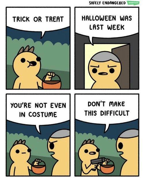 Early Halloween jokes