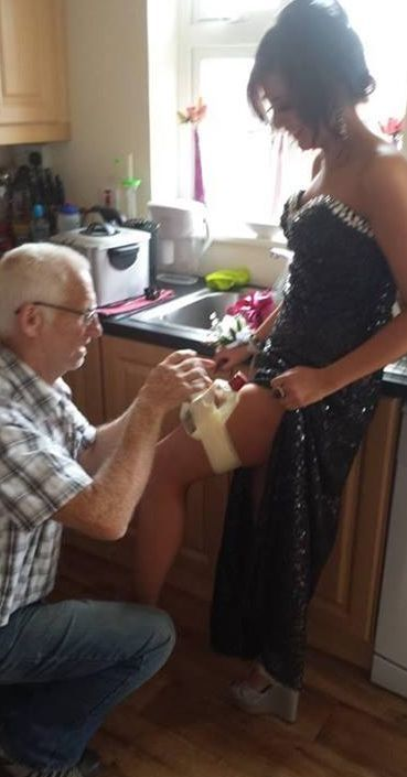When Grandpa helps you get ready for Prom night.