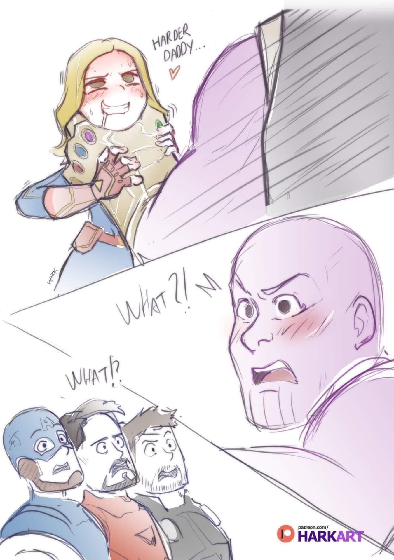 Thanos gets caught out