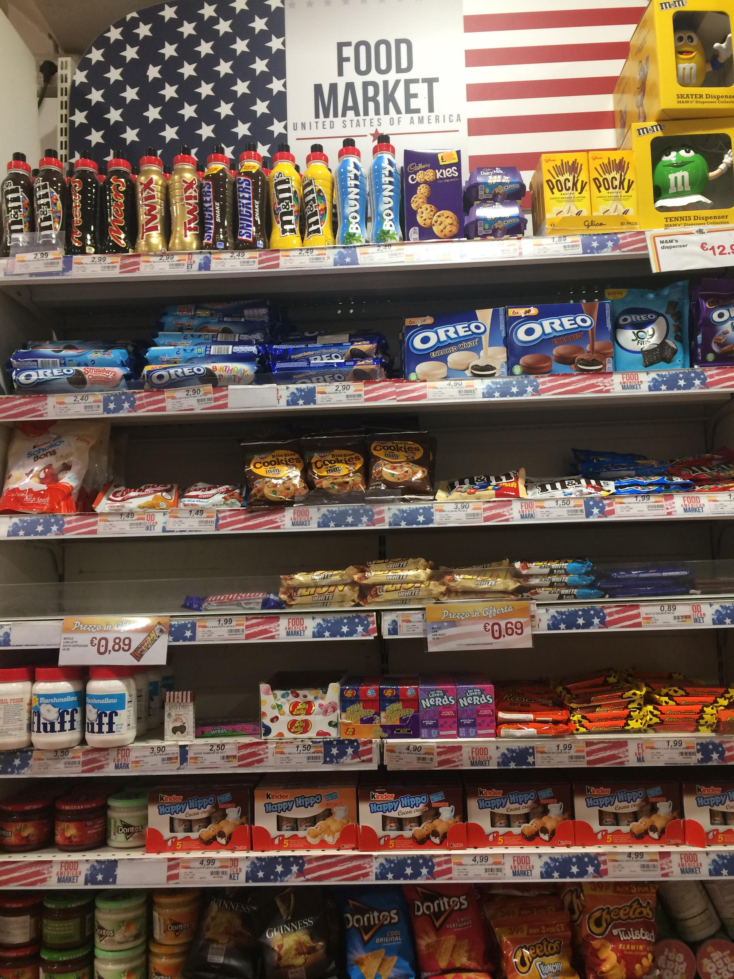 "I found this ""american"" themed section while visiting europe, go easy on us guys"