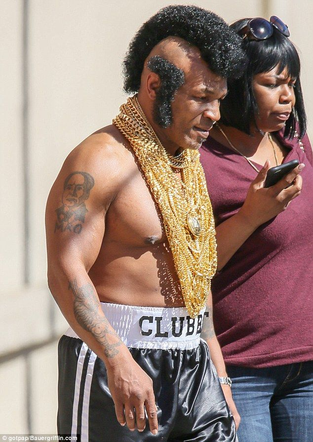 Mike Tyson Dressed Up as Mr T