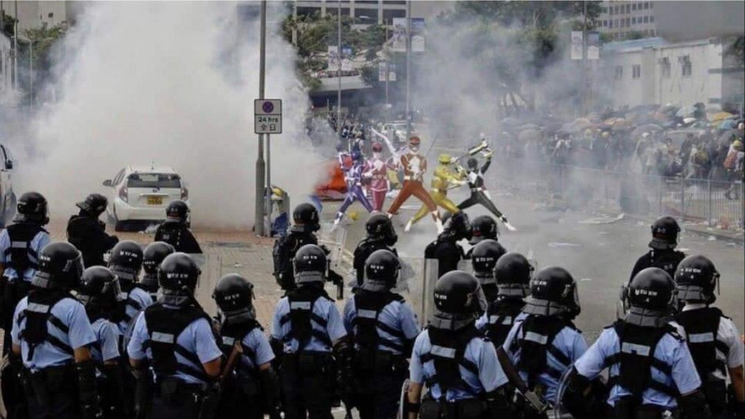 The Hong Kong police has revealed 150 tear gas cans were used to stop these 5 individuals