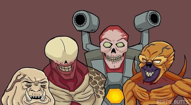 Me and the boys getting ready to get slayed by the DOOM Slayer