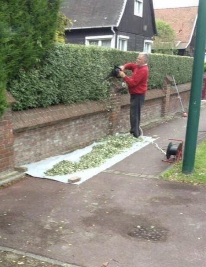 My neighbour is making the biggest doobie ever!