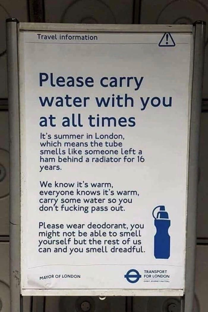 London Underground announcement:)