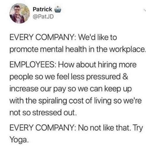 How to promote mental health in the workplace.