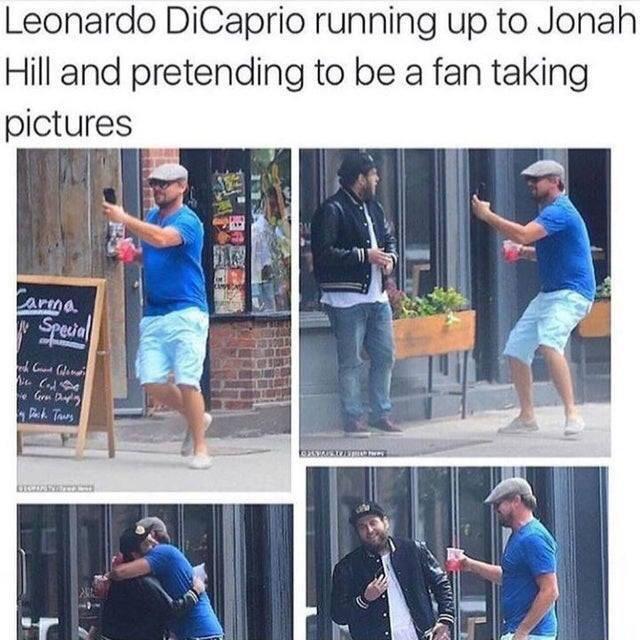 Leonardo DiCaprio is the best fan
