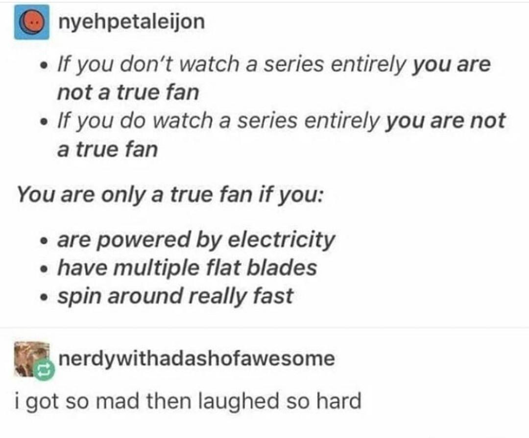 Not a true fan