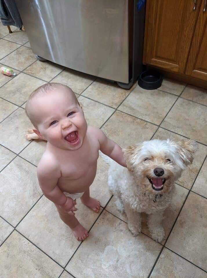 The Happiest photo you will see today on the internet.