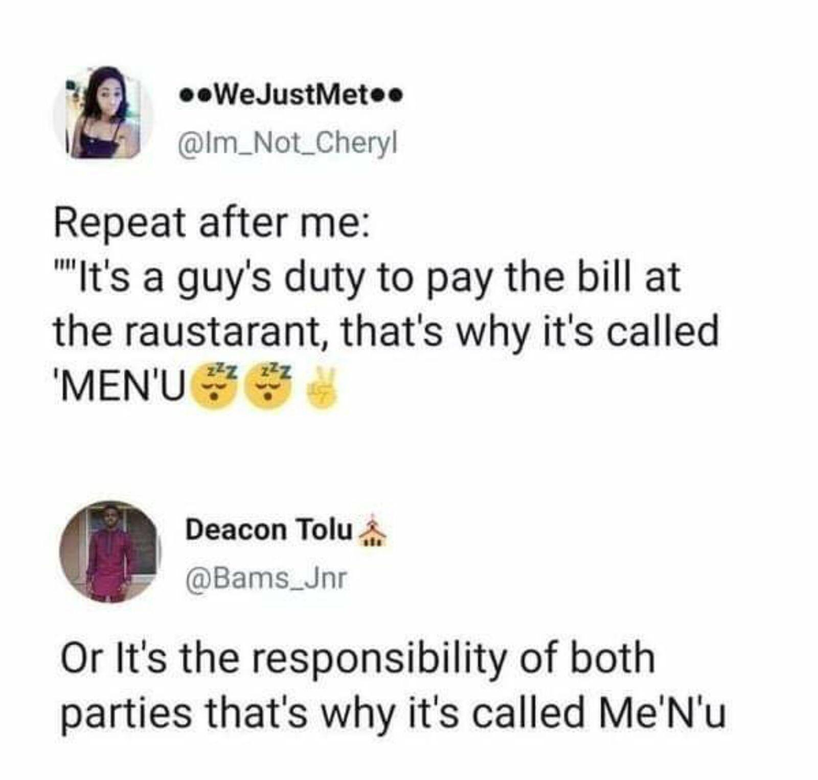 Why a Menu is called Menu?