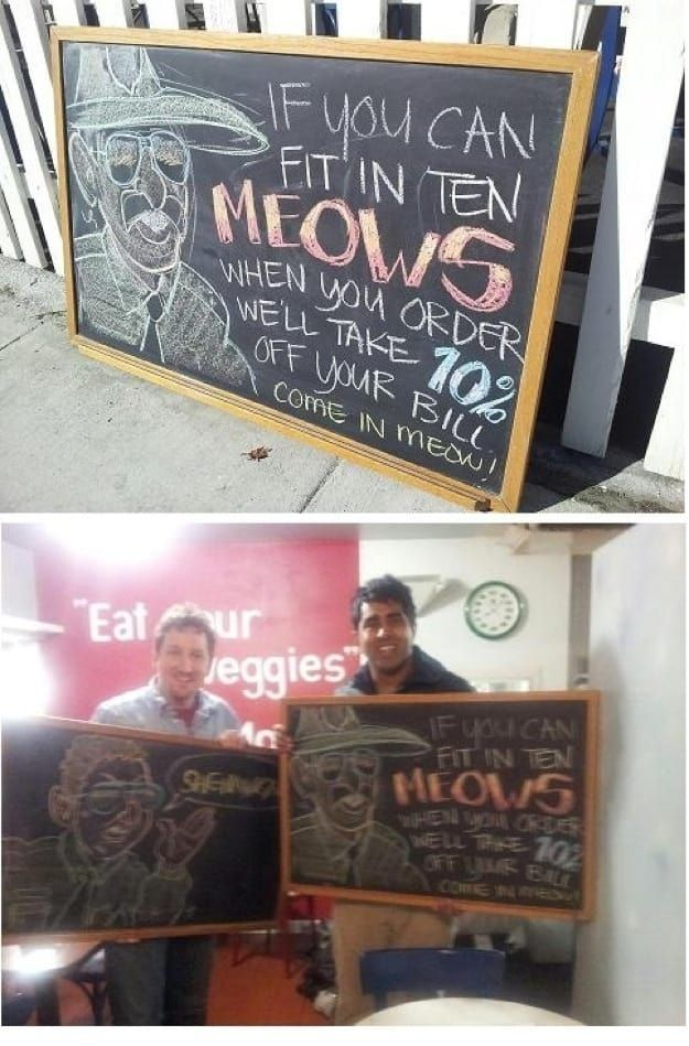 Just look at that creative restaurant sign