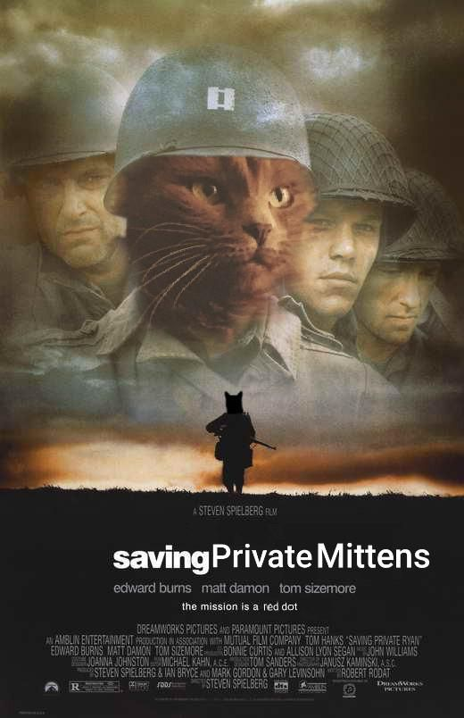 New favorite hobby: photoshopping my cat into movie posters and setting them as my fiance's phone background.