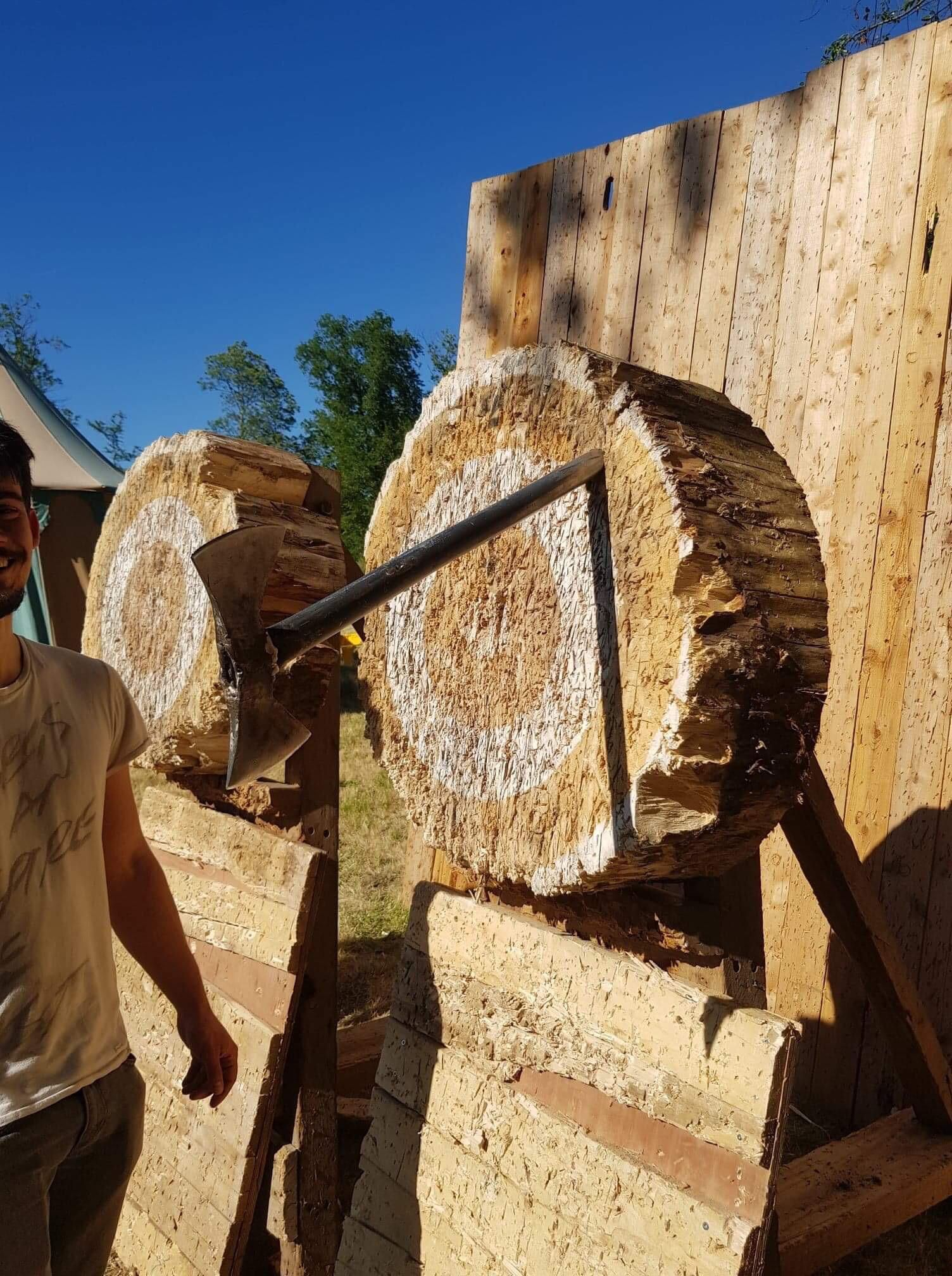 Today my friend tried axe-throwing. It ended quite unexpectedly