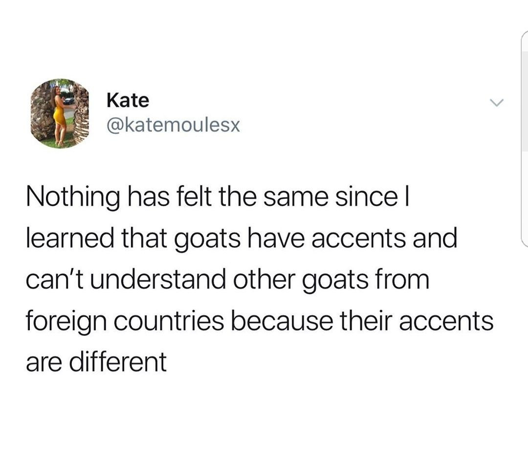 As a goat i confirm