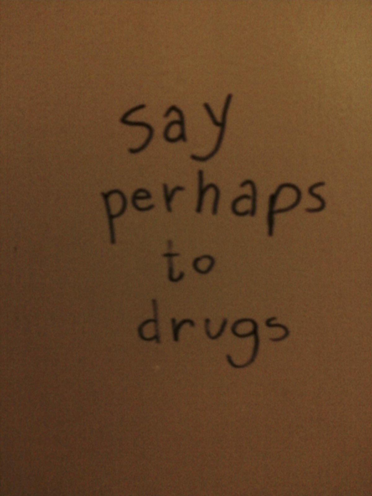 This graffiti in the girls bathroom
