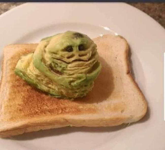 Jabba the hutt avocado toast