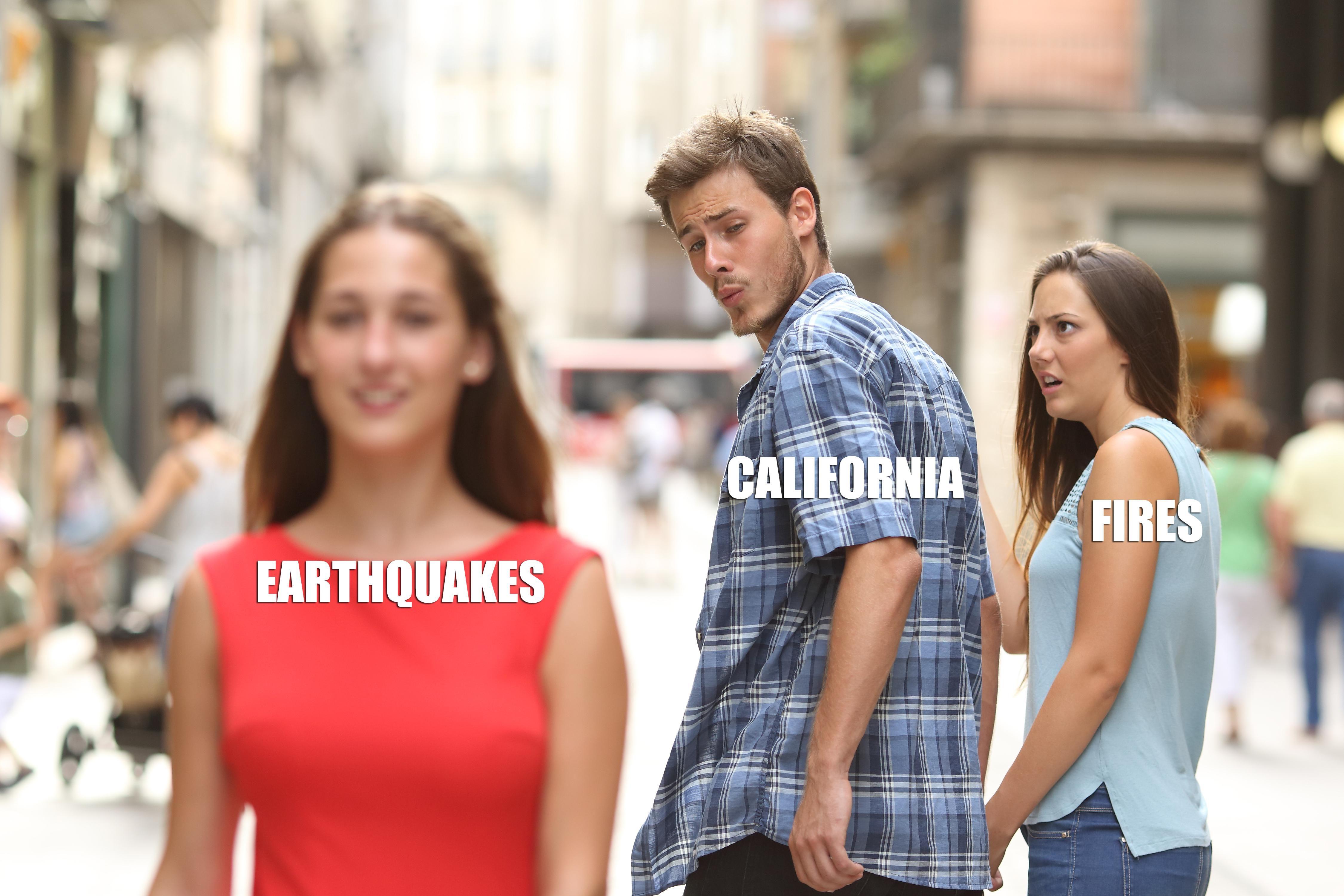 California - shaken or lit?