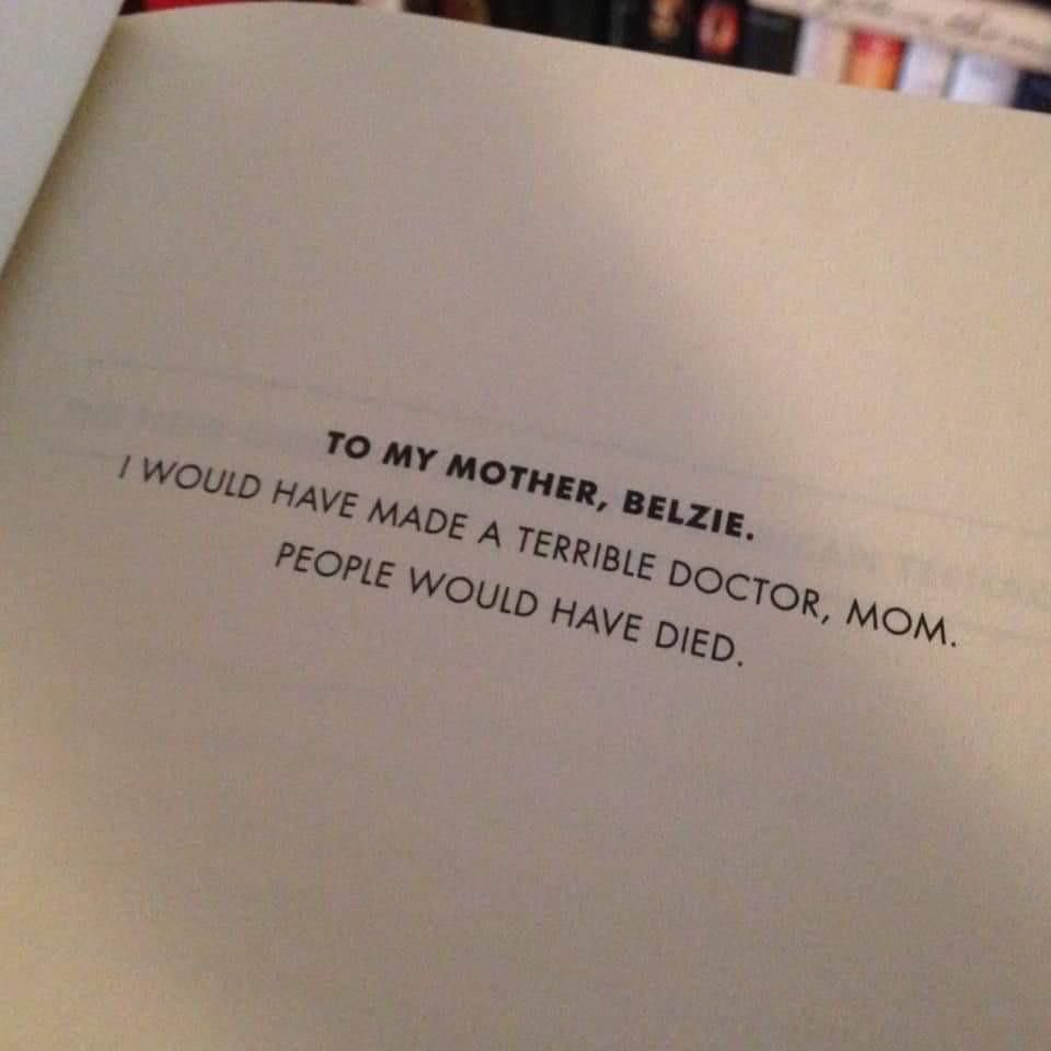 Dedicating a book