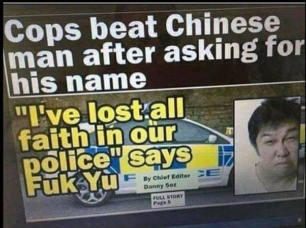Cops beat Chinese man after asking for his name