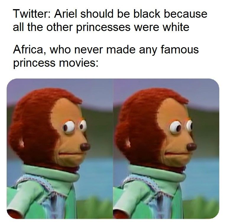 Tell Africa to make some black princess characters instead of having white people do everything.