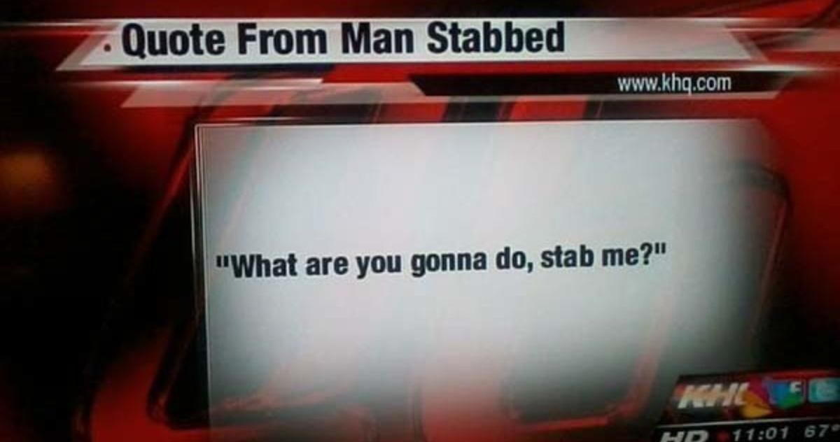 I shouldn't have laughed.
