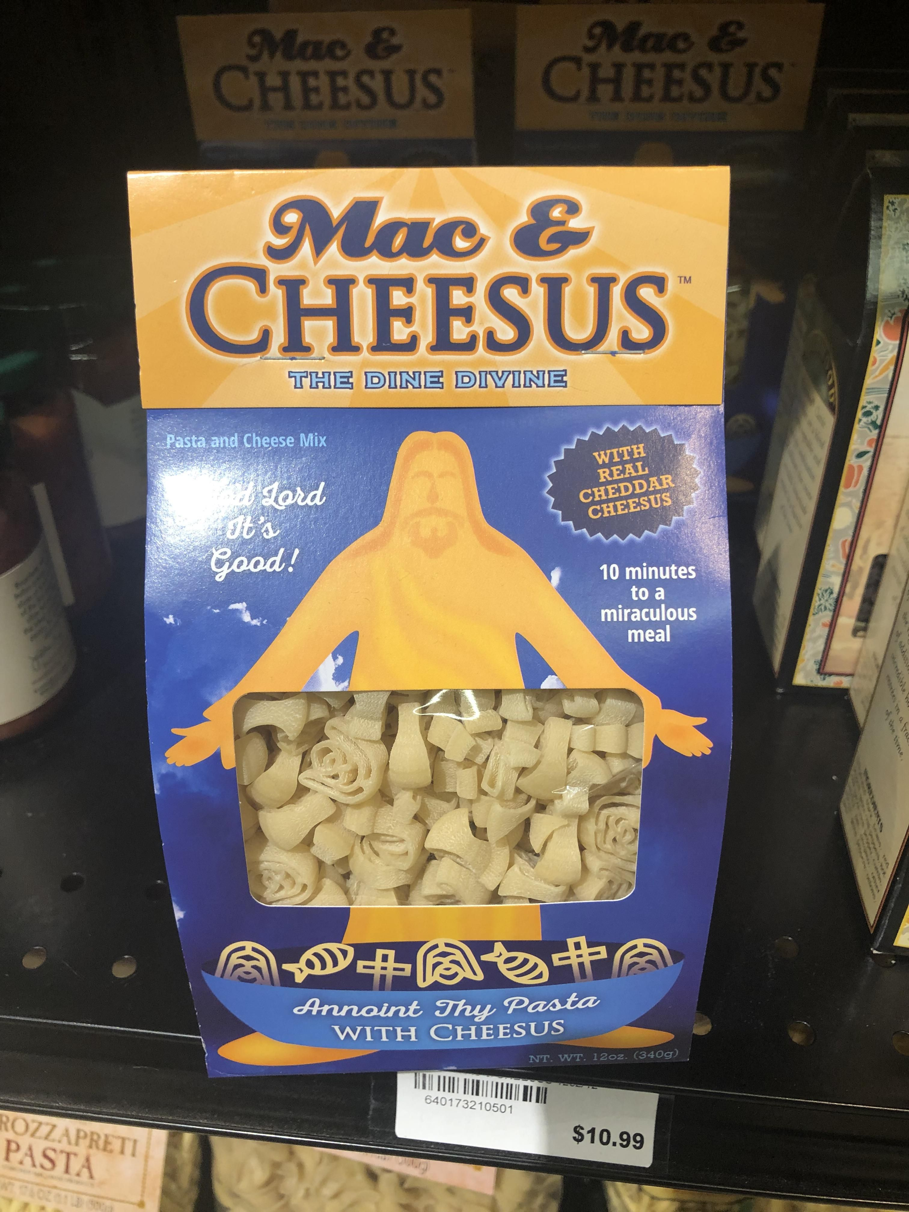 Jesus shapes pasta