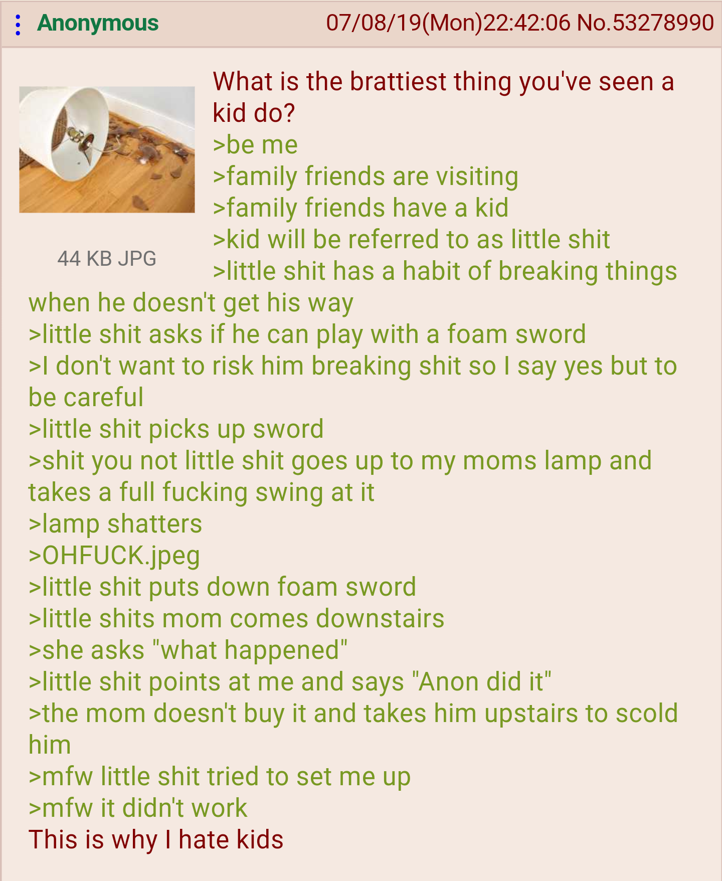 Anon and the little shit