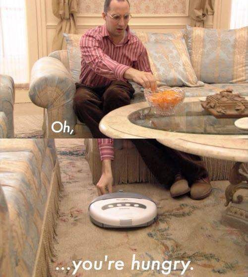 Don't forget to feed your roomba