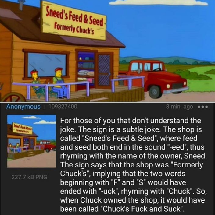 Anon explains a Simpsons joke